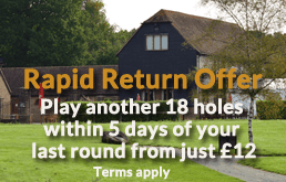 Rookwood Golf Course rapid return offer | Sussex Golf